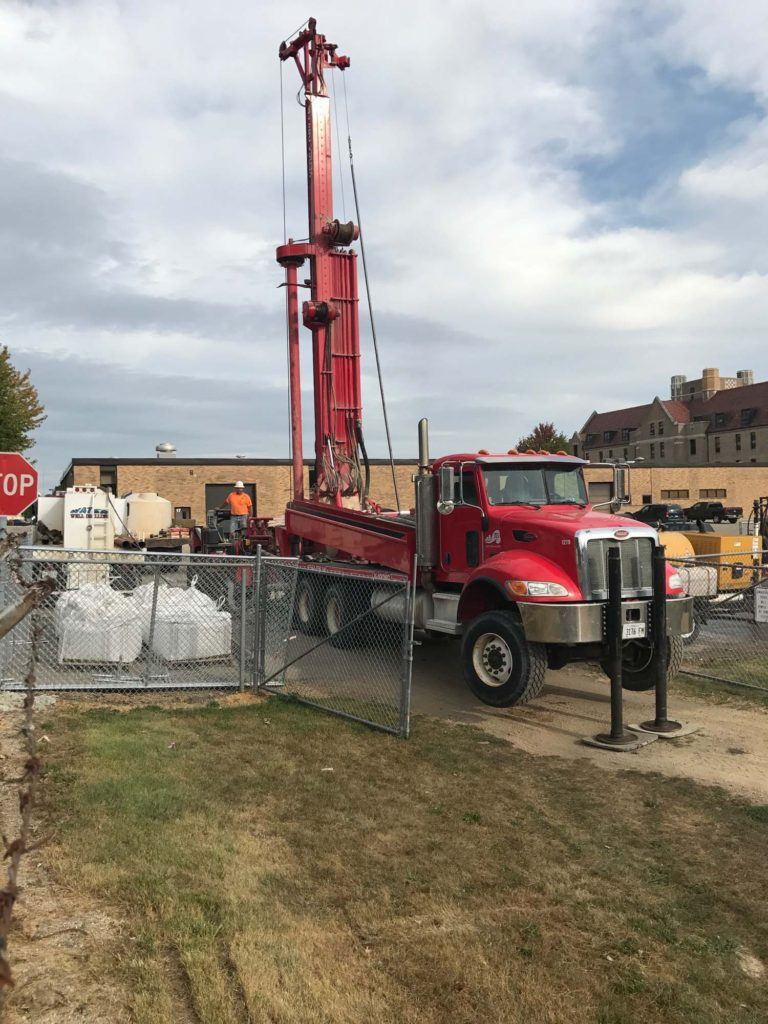 truck drilling geothermal well